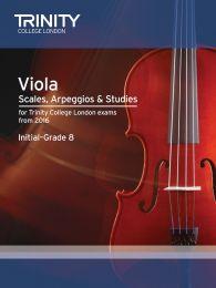 Viola Scales, Arpeggios & Studies Initial–Grade 8 from 2016